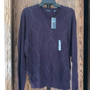 Van Heusen Dark Purple Men's Sweater